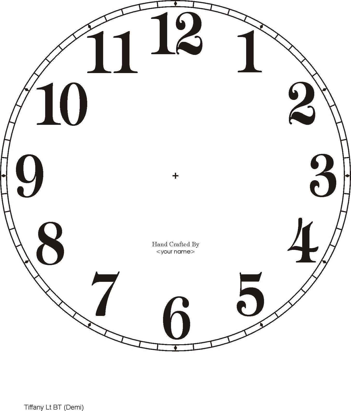 printable clock hands template - free clock dials