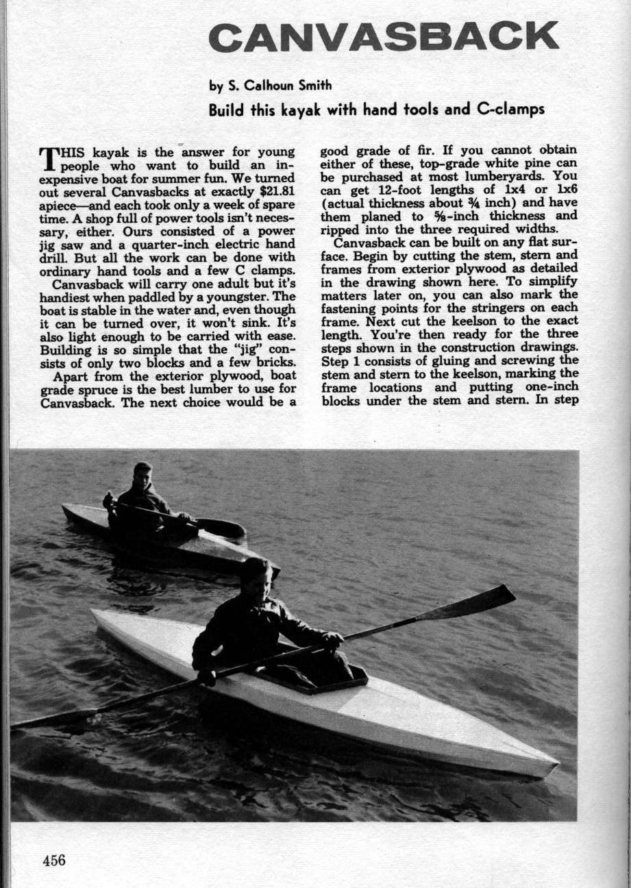 Skin on frame kayak plans - Thewoodshop20m Wood And Canvas Kayaks Build Your Own Kayak Canvasback Scan Set 2 Beecroftfo Gallery