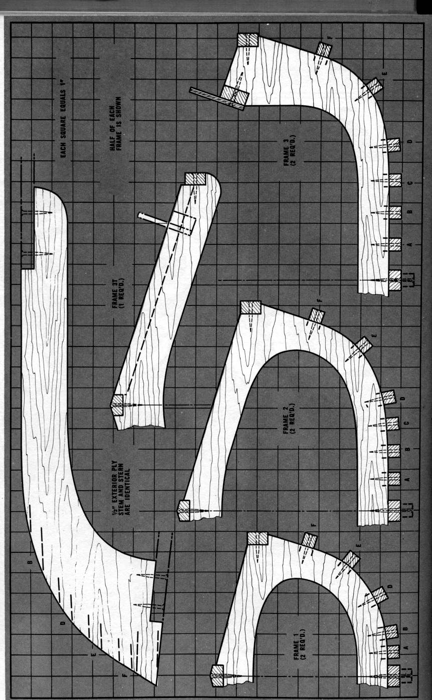Skin on frame kayak plans - Canvasback Scan Set 2